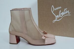 New sz 10 / 40.5 Christian Louboutin Checkypoint Booty 55 Blush Boot Shoes