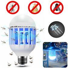 2 in 1 Mosquito Zapper Light Led Lightbulb Bug Fly Insect Killer Bulb Lamp White