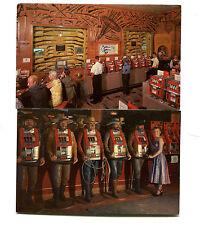 Postcard pair HAROLD'S CLUB Reno Nevada Casino Gun Museum & Slot Machines