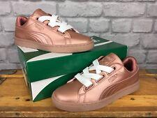 Puma señoras UK 5 EU 38 Cesta De Cobre Corazón Metálico Zapatillas Rrp £ 70