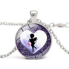Amur Love Baby with Arrow Romantic Women Pendant Vintage Style Necklace N532