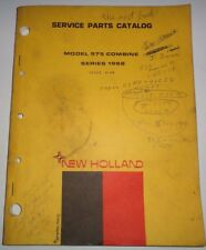 New Holland 975 Combine (Series 1968) Parts Catalog Manual Book NH 4/68 Original