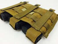 USMC 3 Mag Coyote brown Three magazine ammo pouch molle full battle FBSE