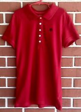 Aeropostale Junior's Red Polo Shirt With Buttons And A87 Logo Size S