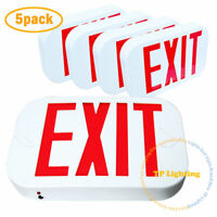 [5 PACK] Red LED Emergency Exit Light Sign - Modern Battery Backup UL924 Fire