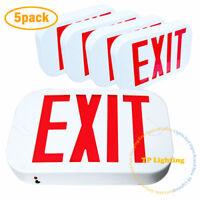 [5 PACK] Red LED Emergency Exit Light Sign - Modern Battery Backup UL924 Fire