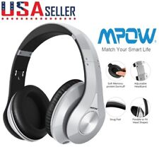 Mpow 059 Bluetooth V4.0 Headphones Over Ear - Wireless Foldable Headset - Silver