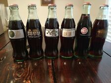 1996 Coca Cola Coke Olympic Glass Bottles Six pack vintage collectibles