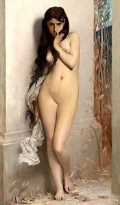 JJ Lefebvre Art Print Sensual Seductive Female Nude Naked Woman LA CIGALE Beggar