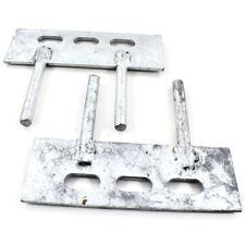 10 PAIA - 150 mm x 50 mm Ghiaia Board Pannello Clip - 2 PIN Tacchetti recinzione staffe