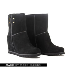 MARC BY MARC JACOBS 626617 BLACK SUEDE WEDGE BOOTS  - UK 7 / EU 40