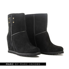 Marc By Marc Jacobs 626617 Stivali neri in pelle scamosciata con zeppa-UK 7/EU 40