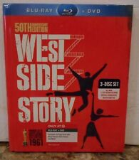 West Side Story (Blu-ray/DVD 2011 3-Disc Set, 50th Anniversary Edition) RARE NEW