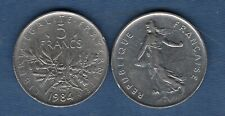 5 Francs Semeuse 1984 TB TTB 50247 Exemplaires France