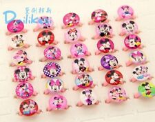 10 Pc Mickey & Minnie Mouse Rings Cartoon Jewelry For Kids Children 62-0