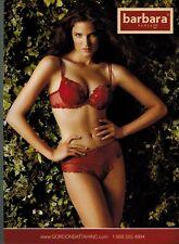 2008  BARBARA PARIS   LINGERIE , Red BRA & PANTY    Magazine  PRINT AD