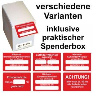 KFZ Serviceaufkleber / Inspektionsaufkleber 60 x 40 mm - verschiedene Varianten