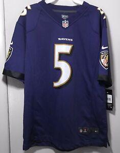 Baltimore Ravens Joe Flacco NEW #5 Nike On Field NFL Jersey Youth Size L