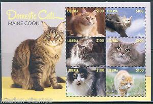 LIBERIA  2015 DOMESTIC CATS  SHEET  II   MINT NEVER HINGED