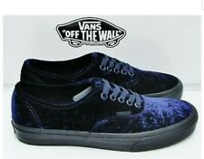 Vans Authentic (Velvet) Navy Black Skate Women's Shoes Size 5.5