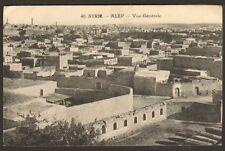 SYRIE SYRIA CARTE POSTALE ALEP VUE GENERALE 1925