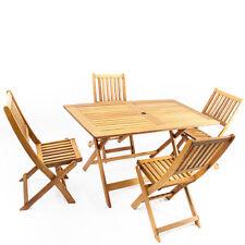 Tavolo e 4 sedie pieghevoli legno da giardino tavoli richiudibili 135x75x73 cm
