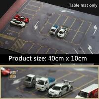 1/64 Car Model Scene Distressed Parking Lot Diorama Mouse Pad Mat US