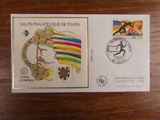 FDC BLOC CACHET PREMIER JOUR FRANCE CNEP SALON PHILATELIQUE TOURS 1992 olympic