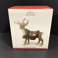 2016 Hallmark Keepsake Father Christmas Reindeer Tabletop Mantle Decoration