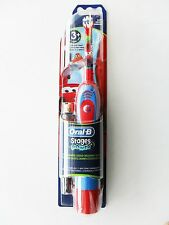 Oral B Braun STAGES POWER Kids Boys Battery Toothbrush Disney Cars NEW AGE 3+
