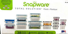 SNAPWARE 38 Piece BPA Free AirTight Food Containers Set Lock Pantry Storage NEW