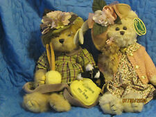 Lot of 2 Bearington Bears, Daisy & Belle, Knitter & Purl