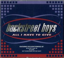 "BACKSTREET BOYS - 5"" CD - All I Have To Give (Gatefold) 4 Tracks. JIVE"