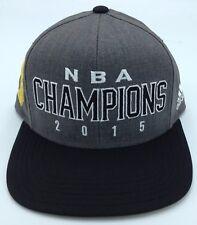 super popular 6a94a 41b18 NBA Adidas Adult 2015 Finals Champions Design Under Brim Snap Back Cap Hat  NEW!