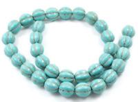 10 Perles Synthétique Pierre Turquoise Fleur 12mm creation bijoux, bracelet,