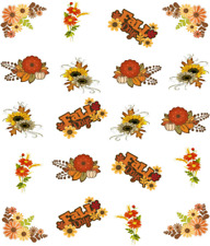 Fall Flowers Waterslide Nail Decals/Nail art