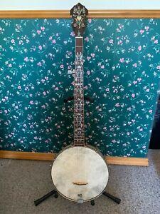 Banjo 5 string Slingerland Pot, fancy abalone and mother of pear neck