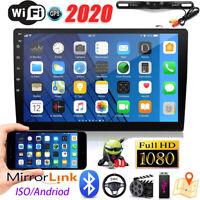 "10.1"" 2DIN Car Stereo Radio Andriod9.1 Bluetooth FM GPS MP5+License Plate Camera"
