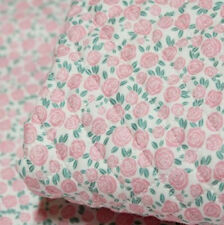 """Quilted Cotton Fabric BH Rosaclaro B2202 By The Yard 44"""" laceking2013"""