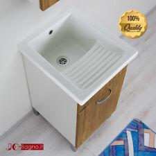 Mobile Lavatoio 45x50 Vasca in Ceramica Con Strizzatoio Domina Mix Alta Qualità