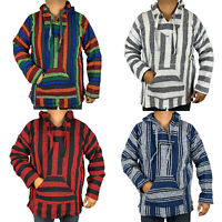 XXL Baja Hoodie Hippie Surfer Mexican Poncho Sweater Drug Rug Assorted Colors