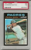 SET BREAK -1971 TOPPS #25 CLARENCE CITO GASTON, PSA 7 NM, SAN DIEGO PADRES, L@@K