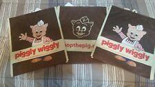 LOT of 3 Piggly Wiggly Reusable Vinyl Shopping Bag