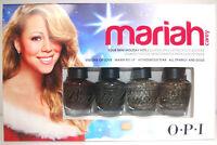 OPI Mariah Carey Holiday Hits Mini Nail Lacquers Polish 4pc Set .1/8oz fast ship