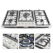 Built-In 5 Burners Stove Top Gas Cooktop Kitchen Ng Gas Cooking Easy Clean