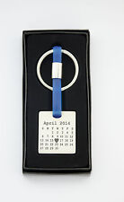 Engraved calendar Keyring -  Father's Day gift - personalised - Metal - BOXED