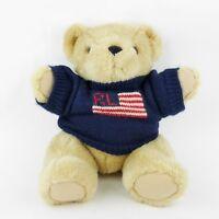 Vtg 96 POLO RALPH LAUREN TEDDY BEAR PLUSH STUFFED DOLL & KNIT TRADEMARK SWEATER