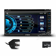 """XTRONS 6.9"""" GPS HD SCREEN DOUBLE 2DIN CAR DVD PLAYER RADIO AUX REVERSE CAMERA"""