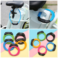 Security Cycling Bicycle Lock 4 Digit Code Bike Accessories Scooter Safety