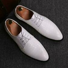 British Men's Oxfords Lace up Leather Shoes Dress Formal Wedding Business Shoes@